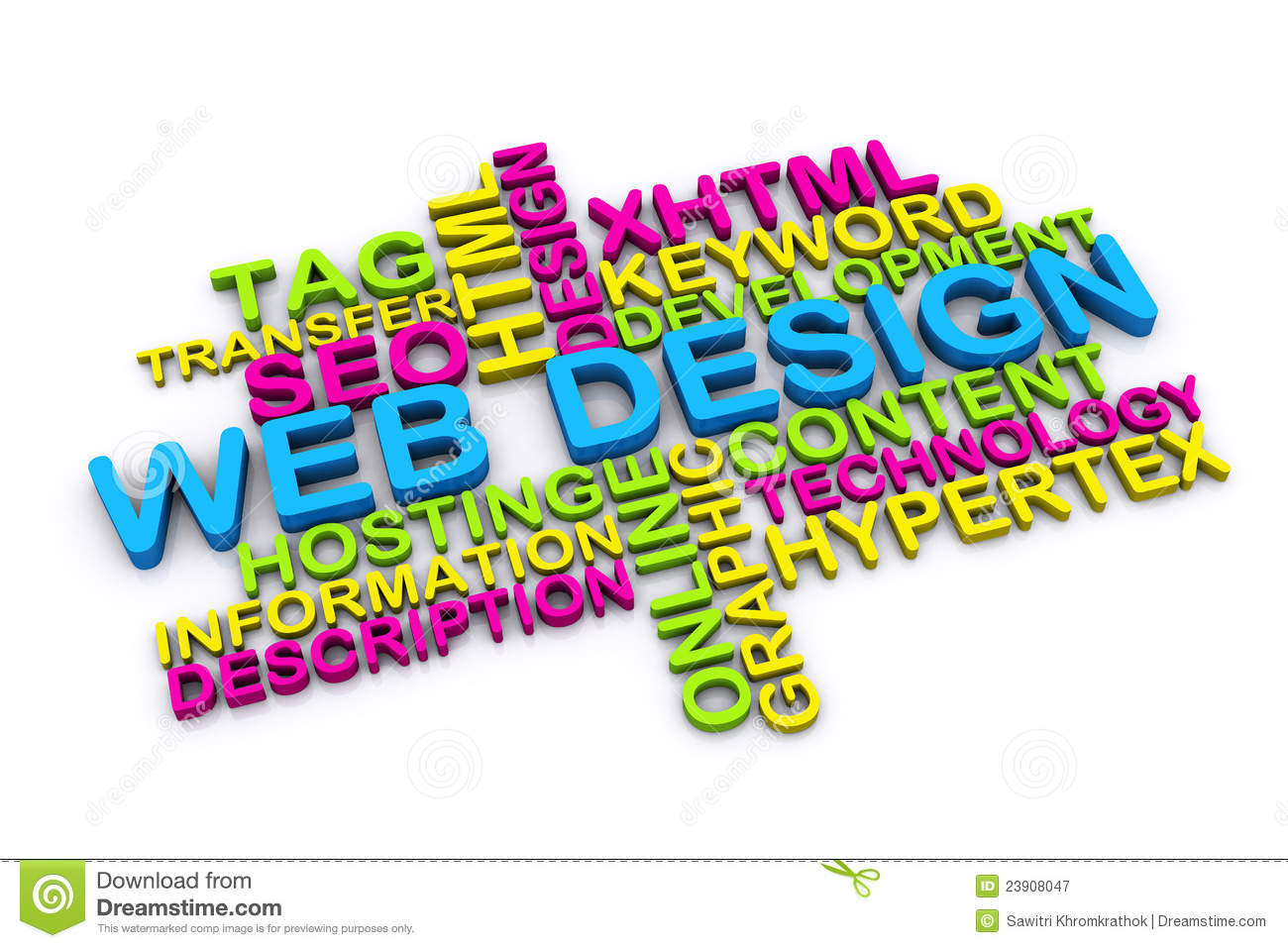 3d Web Design Concept Royalty Free Stock Photography - Image: 23908047