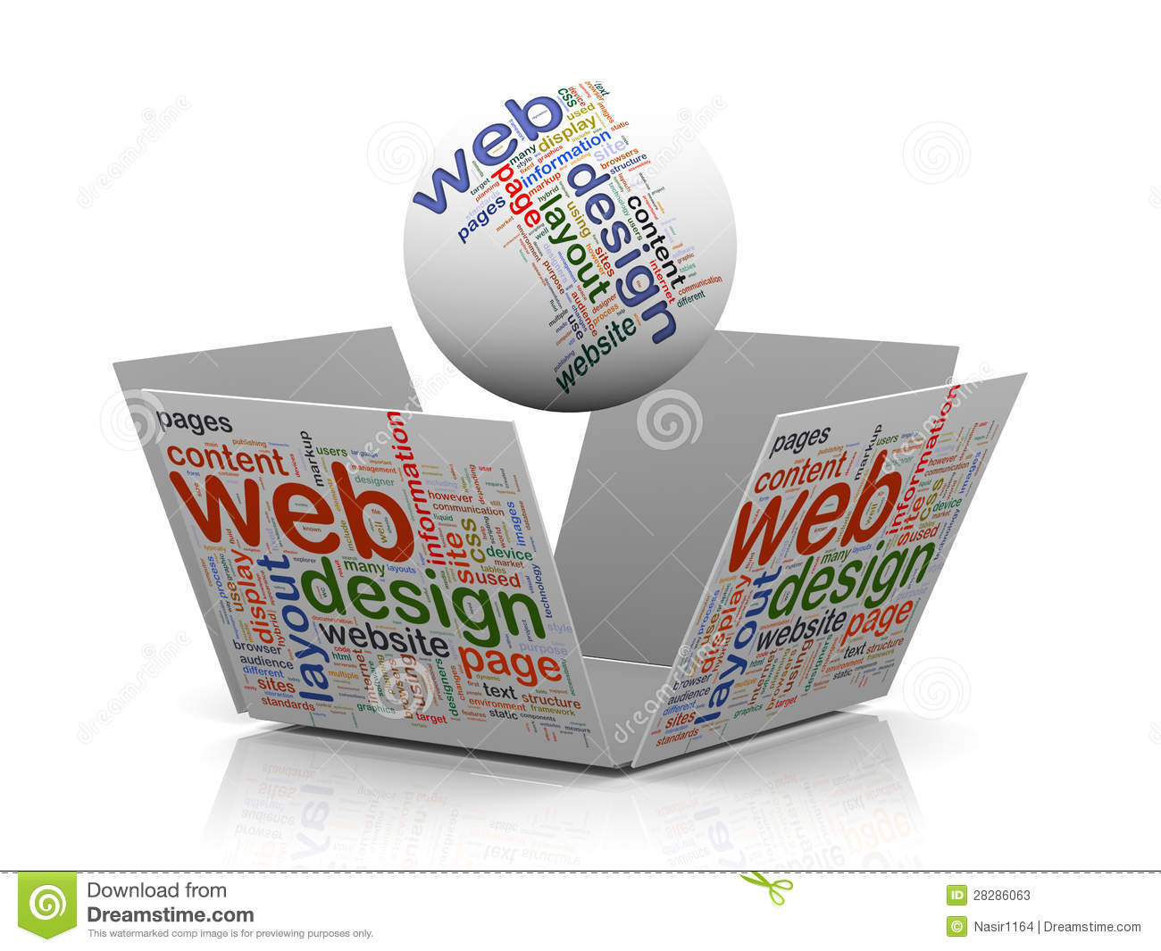 3d web design wordcloud tags stock photos image 28286063