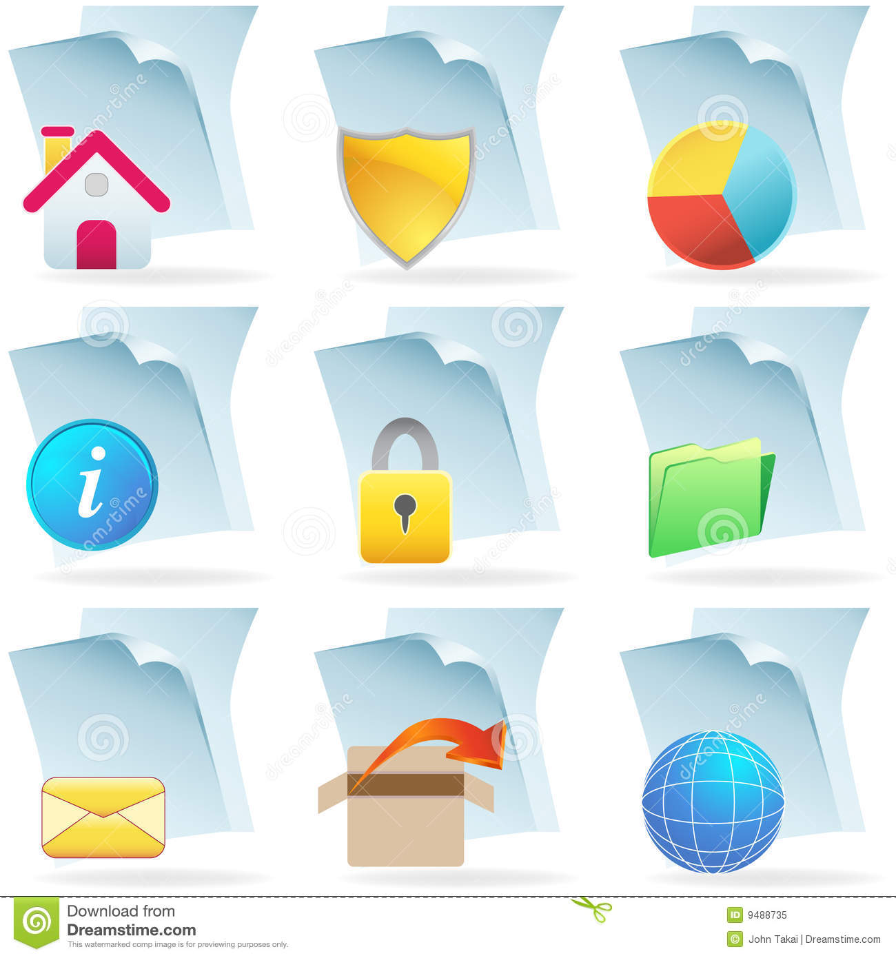 3d Web Document Icons Royalty Free Stock Photo Image