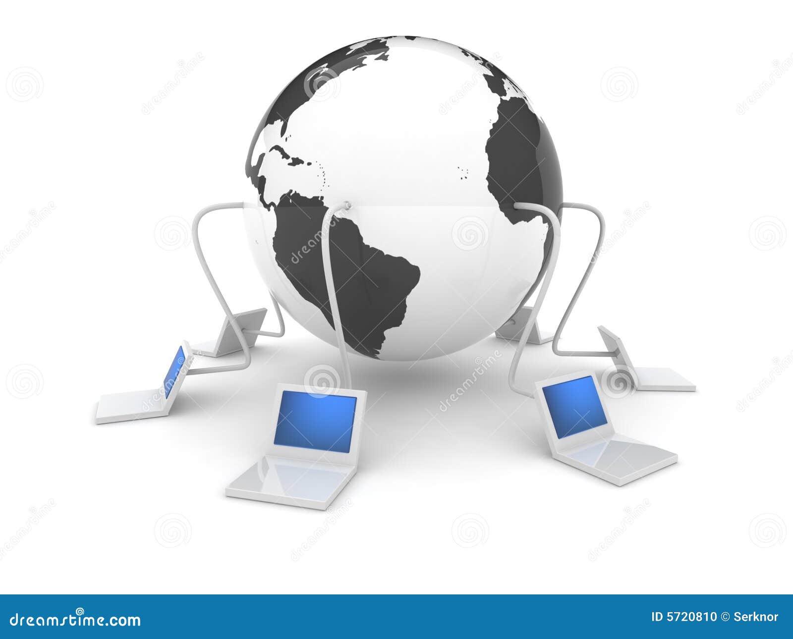 3d web icon - Internet