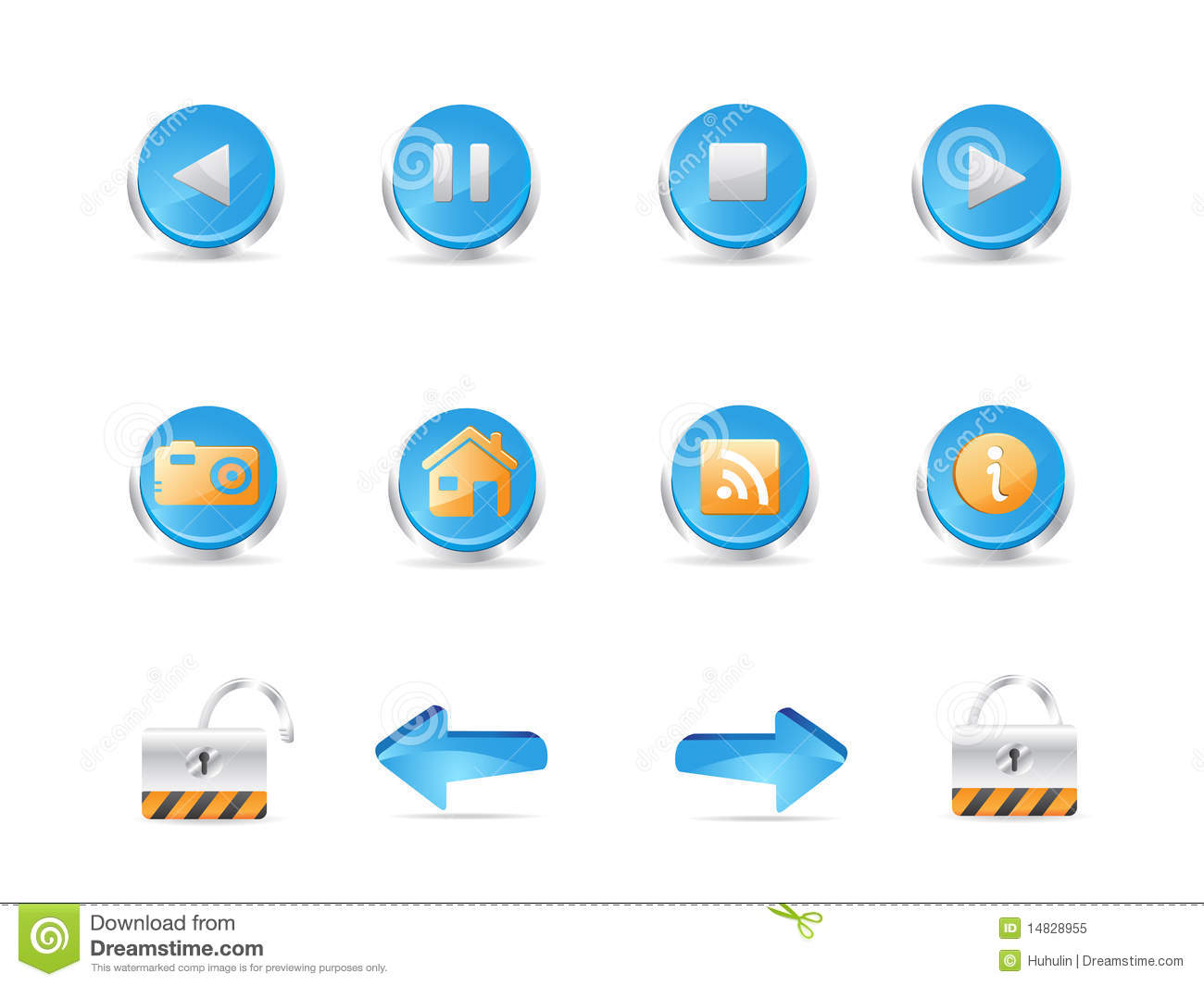 3d Web Icons Royalty Free Stock Photo Image 14828955