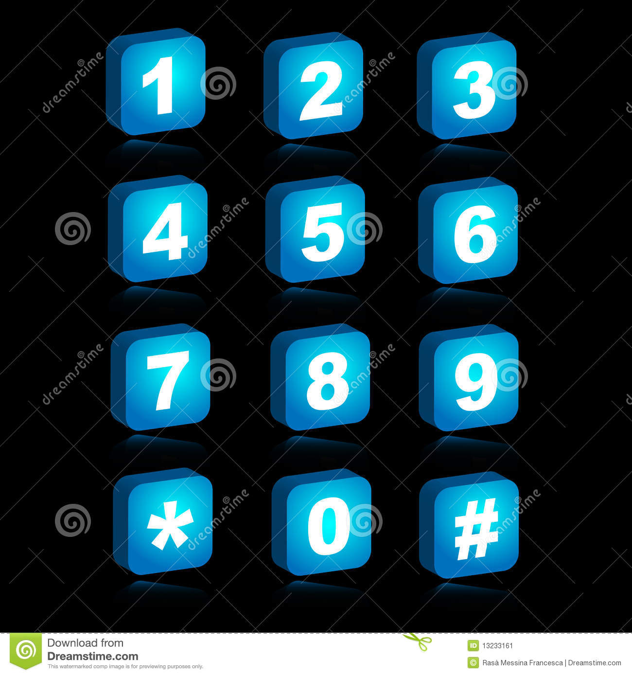 3d Web Icons Numbers Stock Image Image 13233161