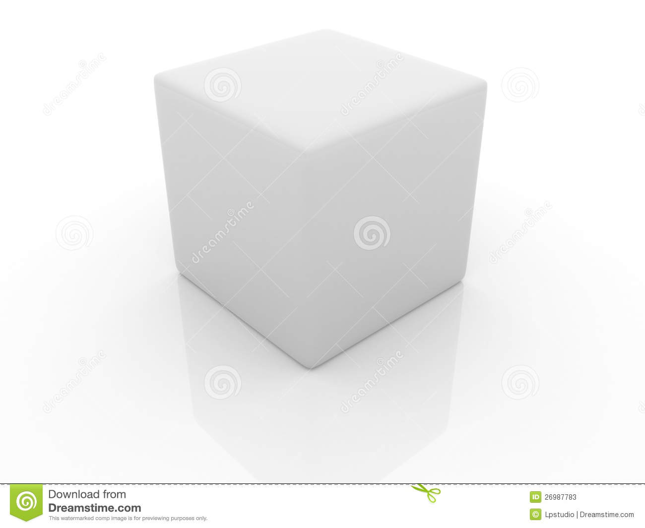 3d White Cube. Stock Photos - Image: 26987783