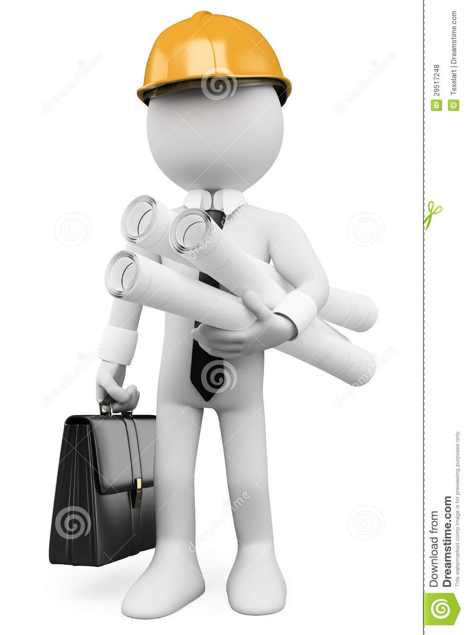 3d white people architect with plans royalty free stock photos architect background hard helmet image people plans