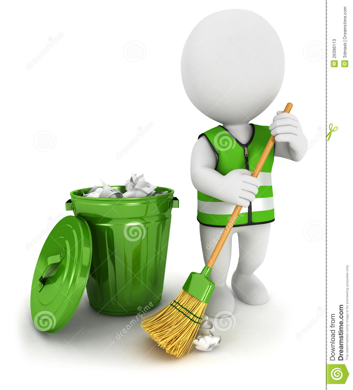 Stock Photos 3d White People Street Sweeper Image26396113 on Small Open Concept Floor Plans