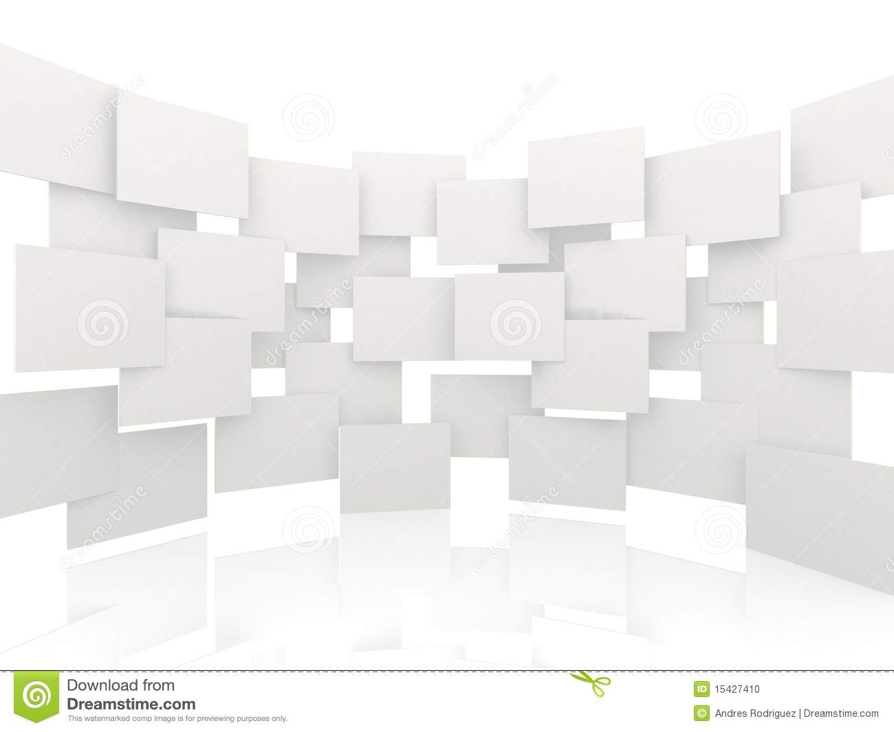 3d white rectangles background stock photo image 15427410 for Wallpaper 3d white