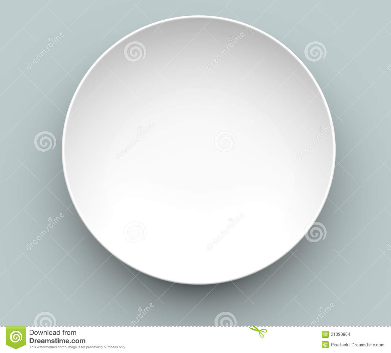 3D White Sphere Dish Stock Images Image 21390864