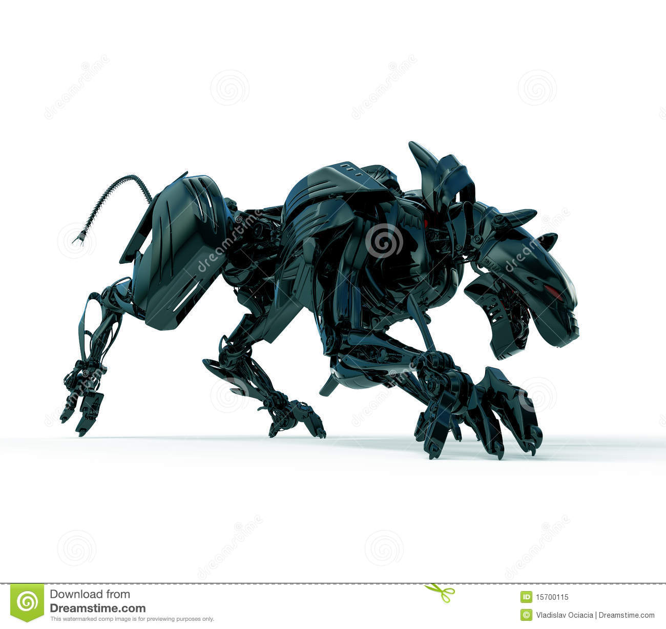 3d Wild Hunter - Cyber Panther Royalty Free Stock Photo ...