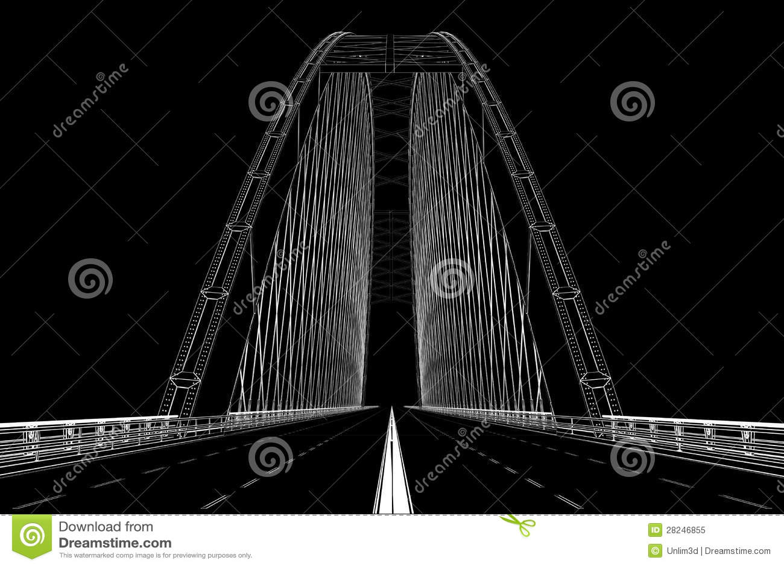 3d wireframe回报桥梁