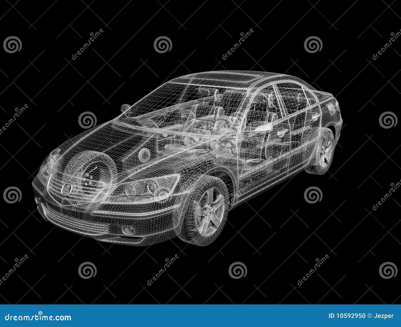 Sports car blueprints stock illustration. Illustration of blueprint ...