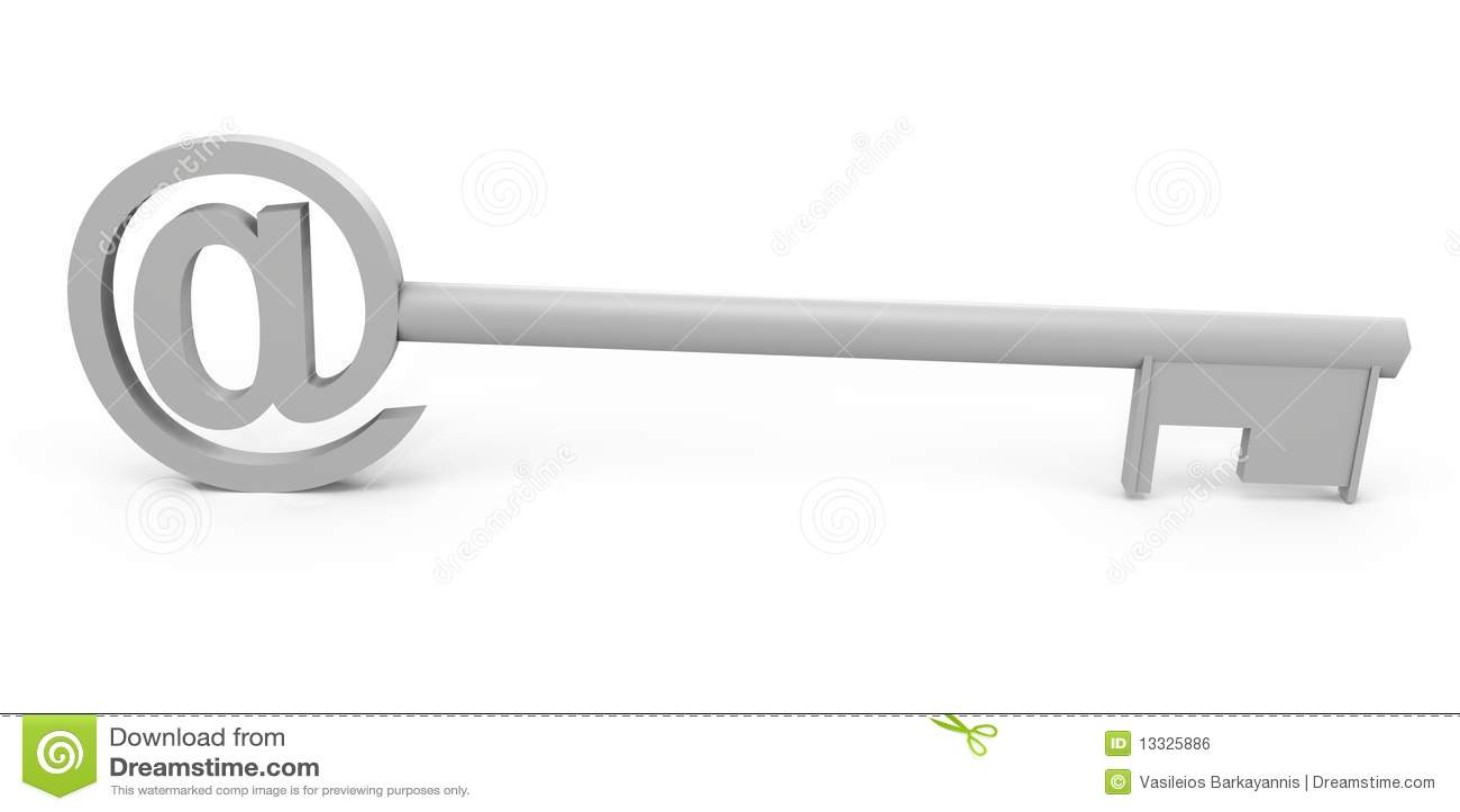 3d wizerunku klucza symbol