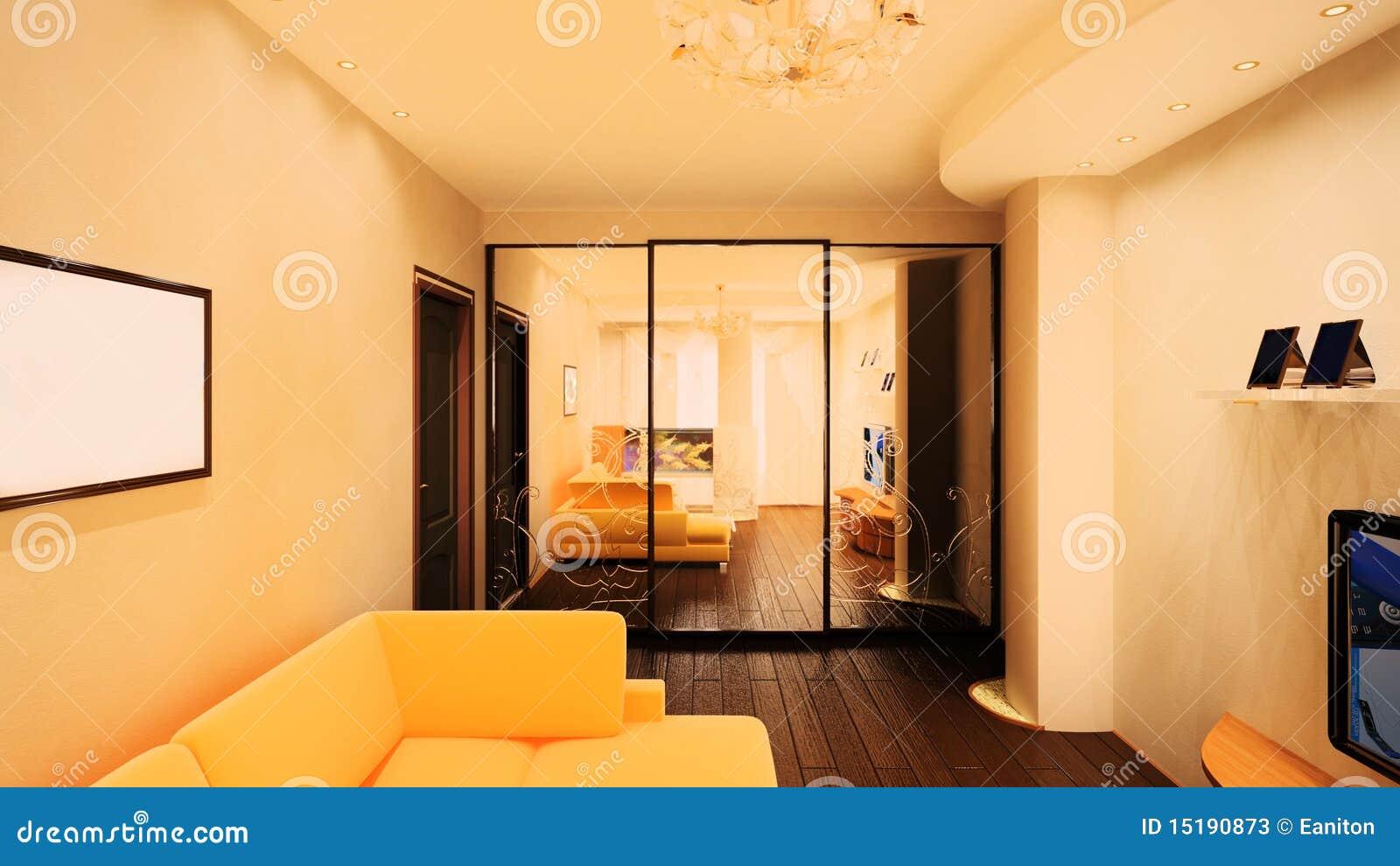 3d wnętrze pokój
