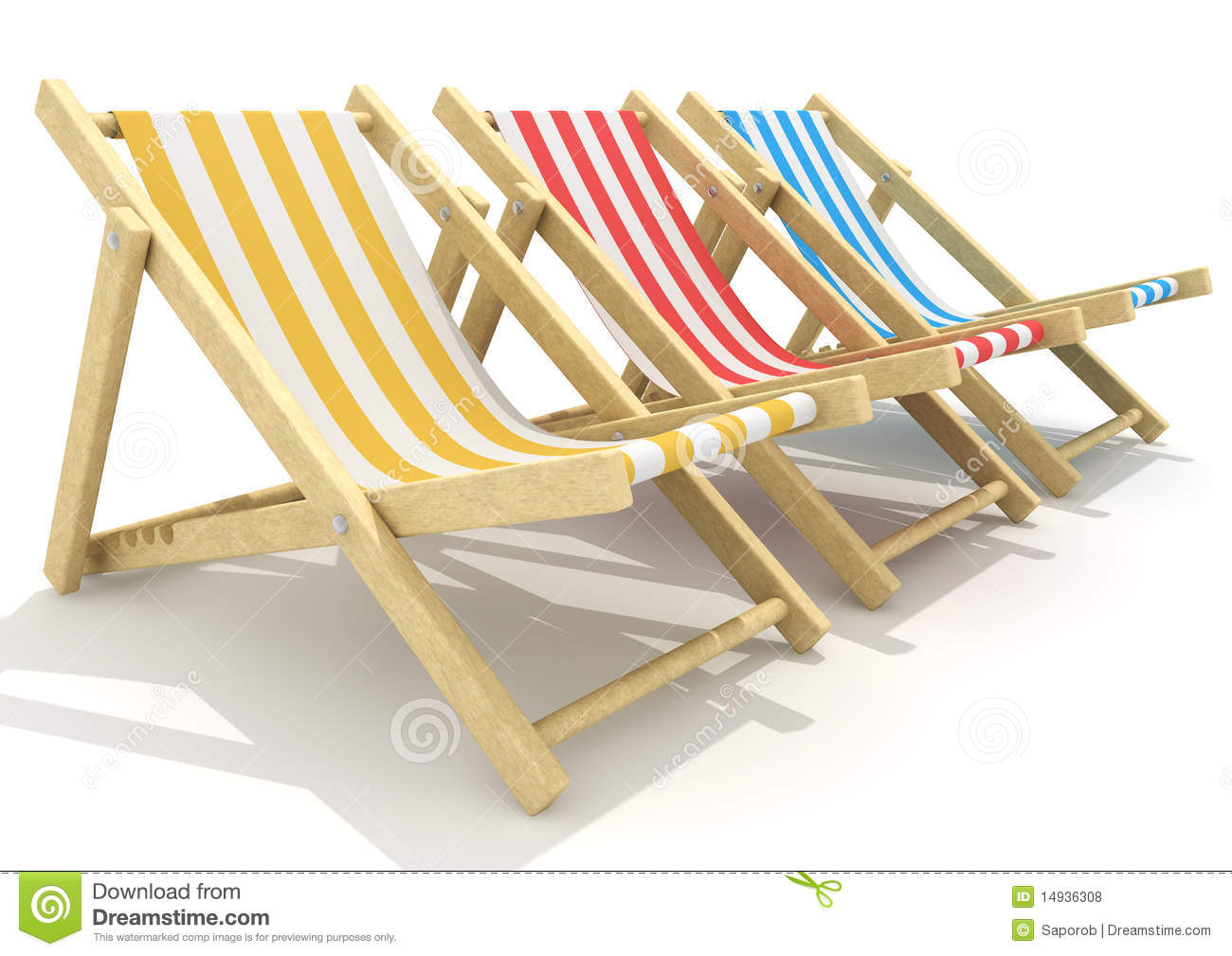 3d Wooden Deck Chairs Royalty Free Stock Photos - Image ...