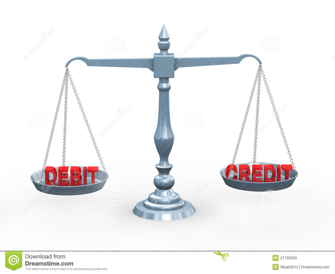 http://thumbs.dreamstime.com/z/3d-word-debit-credit-scale-27733259.jpg