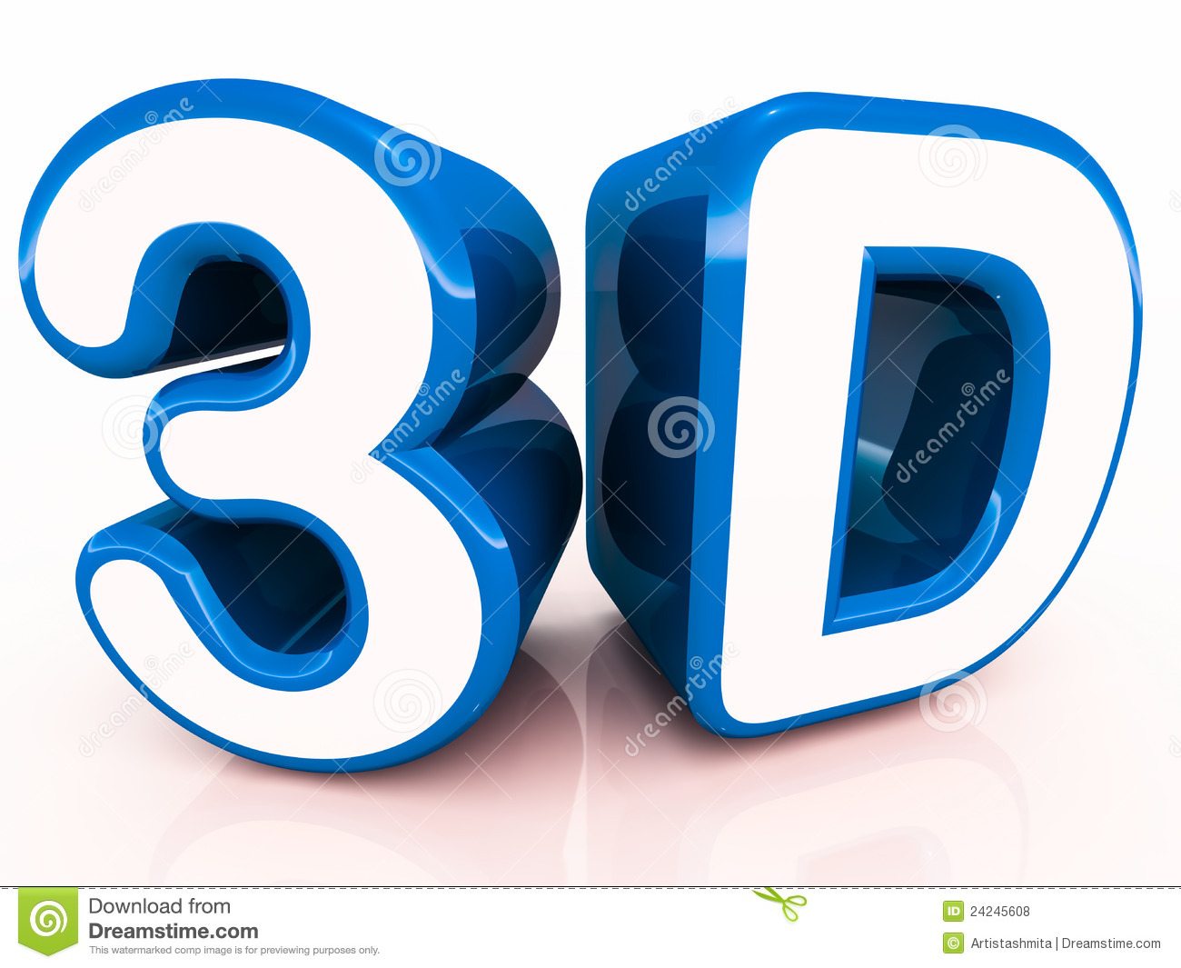 3d Words In Blue Royalty Free Stock Photos Image 24245608