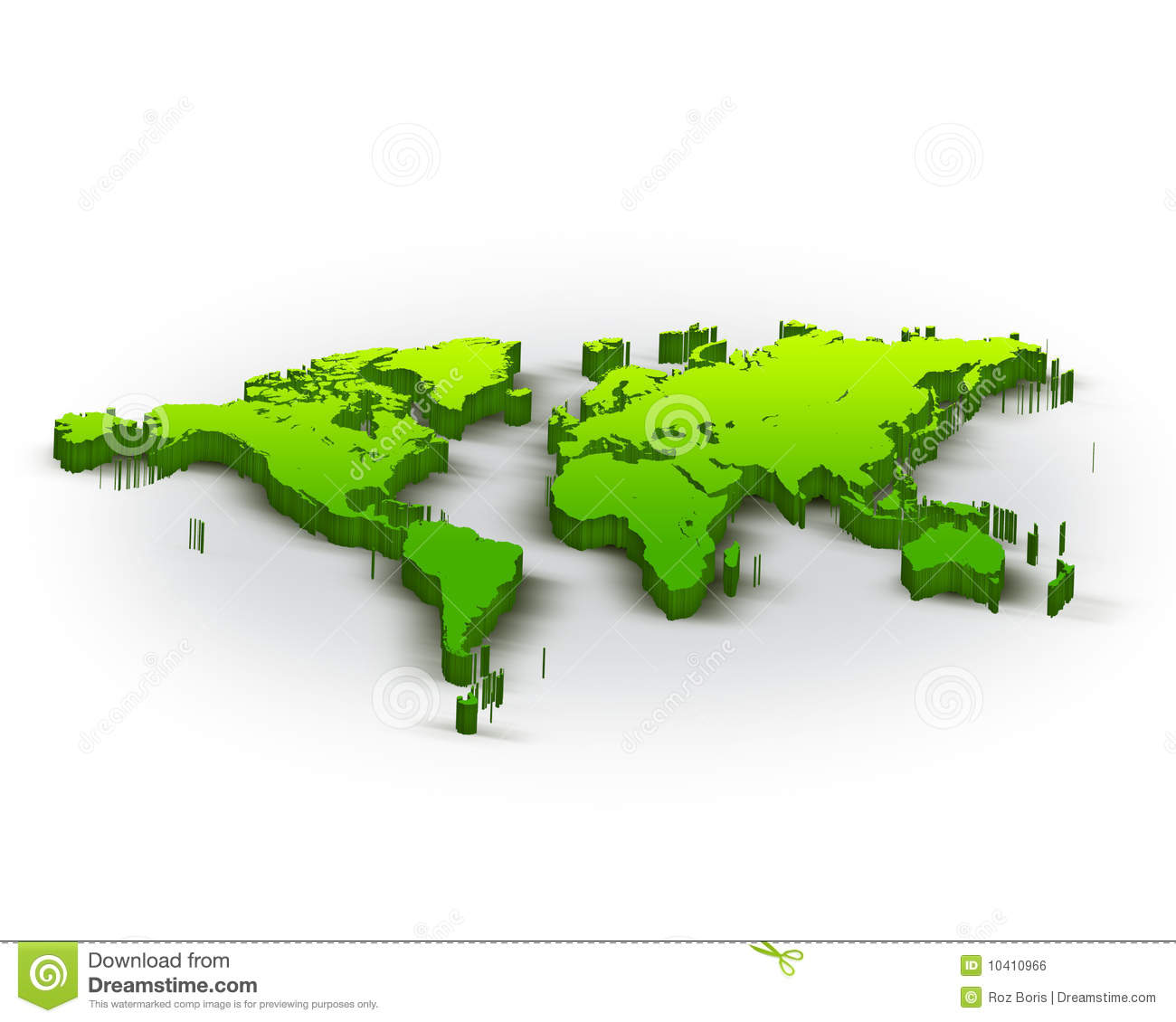 3d world map stock illustration illustration of nature 10410966 3d world map gumiabroncs Choice Image