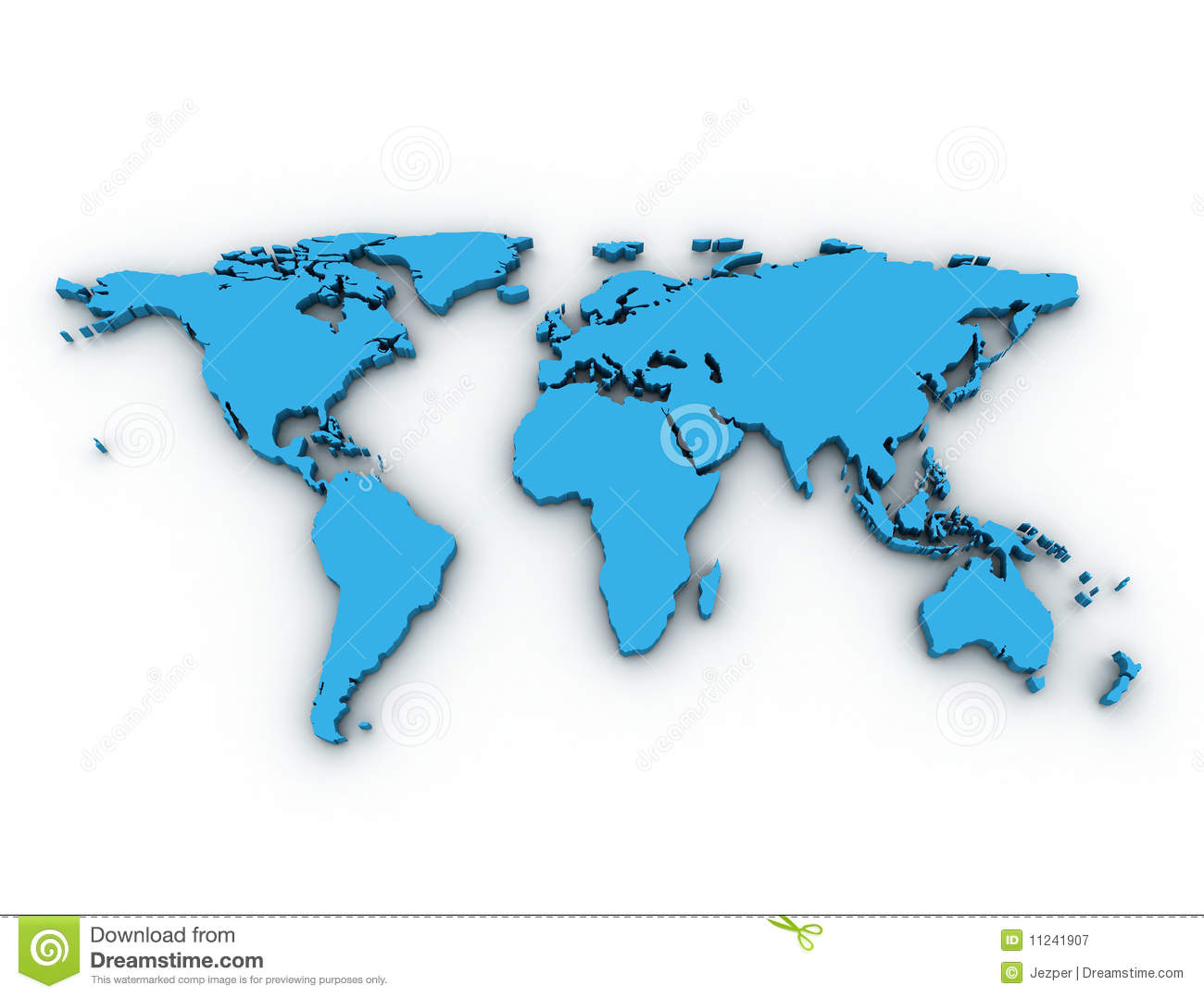 3d World Map Royalty Free Stock Photo - Image: 24847845