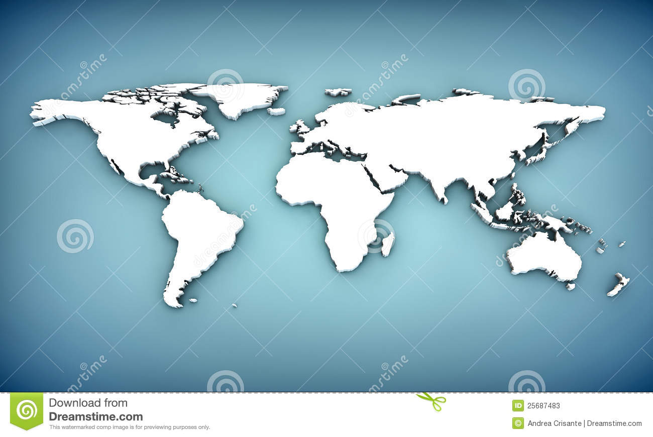 3d world map stock illustration illustration of illustrated 25687483 gumiabroncs Images