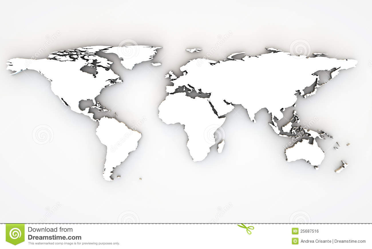 World map 3d stock illustration illustration of blue 29291797 3d world map royalty free stock image gumiabroncs Images