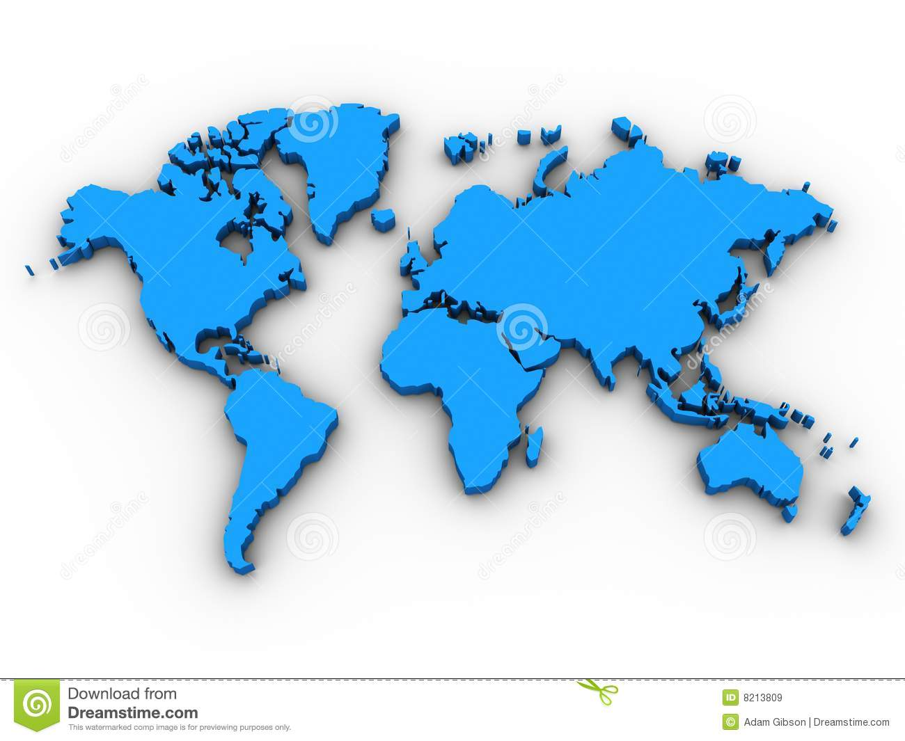 3d world map stock illustration illustration of australia 11241907 3d world map royalty free stock images gumiabroncs Image collections