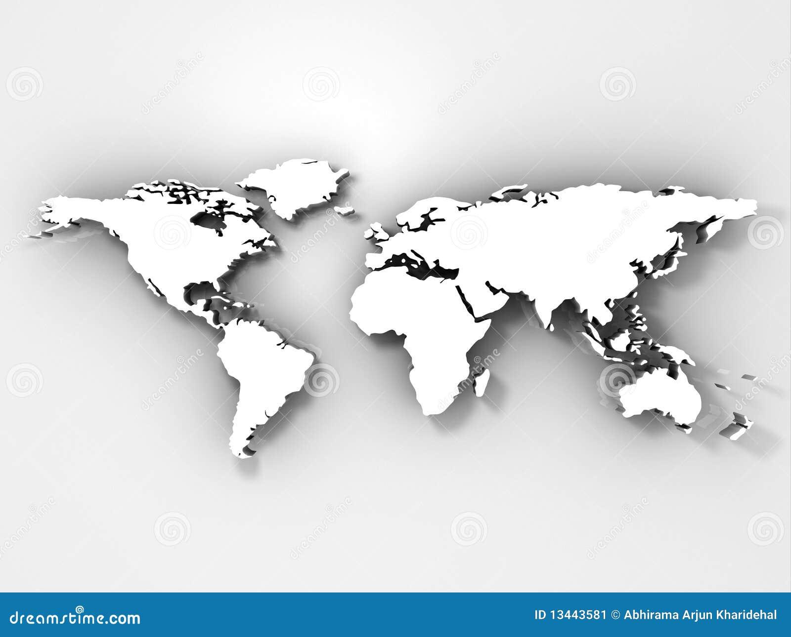 3d World Map Render Stock Illustration Illustration Of Digital
