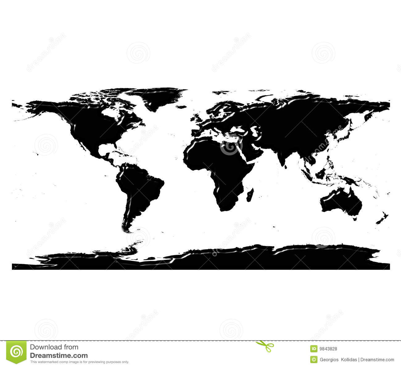 3d world map silhouette with reflection stock illustration 3d world map silhouette with reflection royalty free stock photo gumiabroncs Gallery