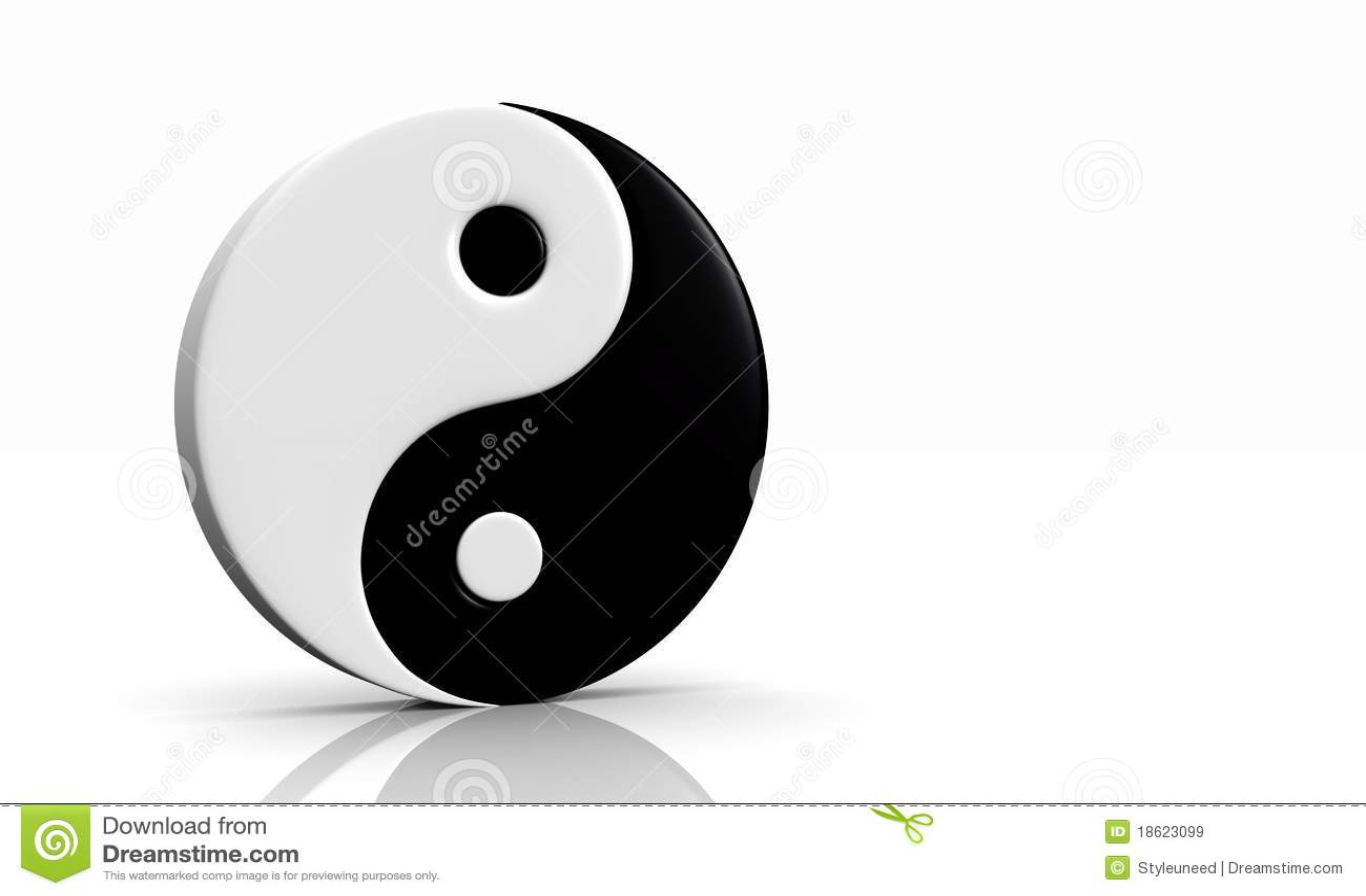 3d tao symbol stock image 5790355. Black Bedroom Furniture Sets. Home Design Ideas