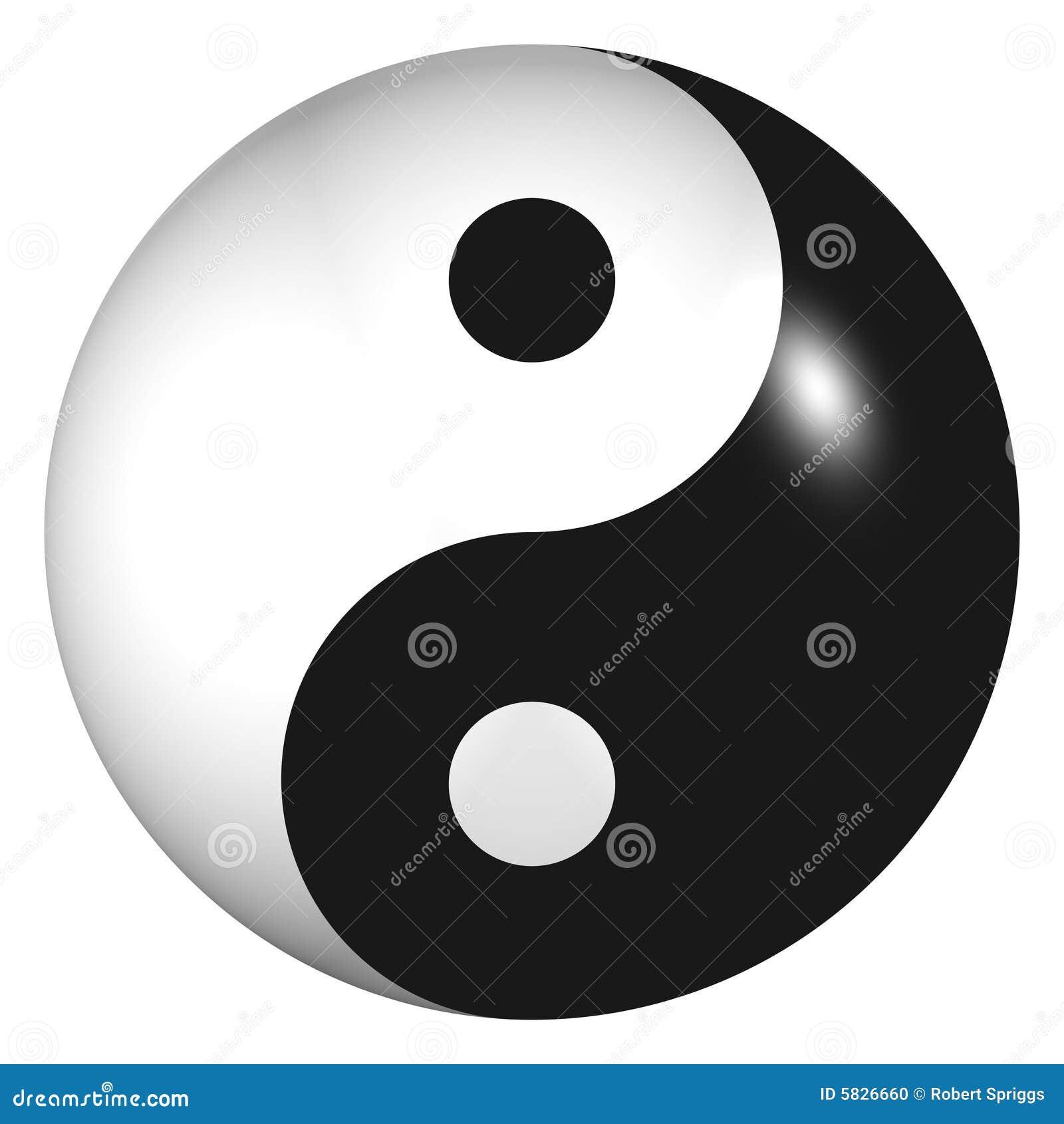 3d Yin Yang Sphere stock illustration. Illustration of elemental ...