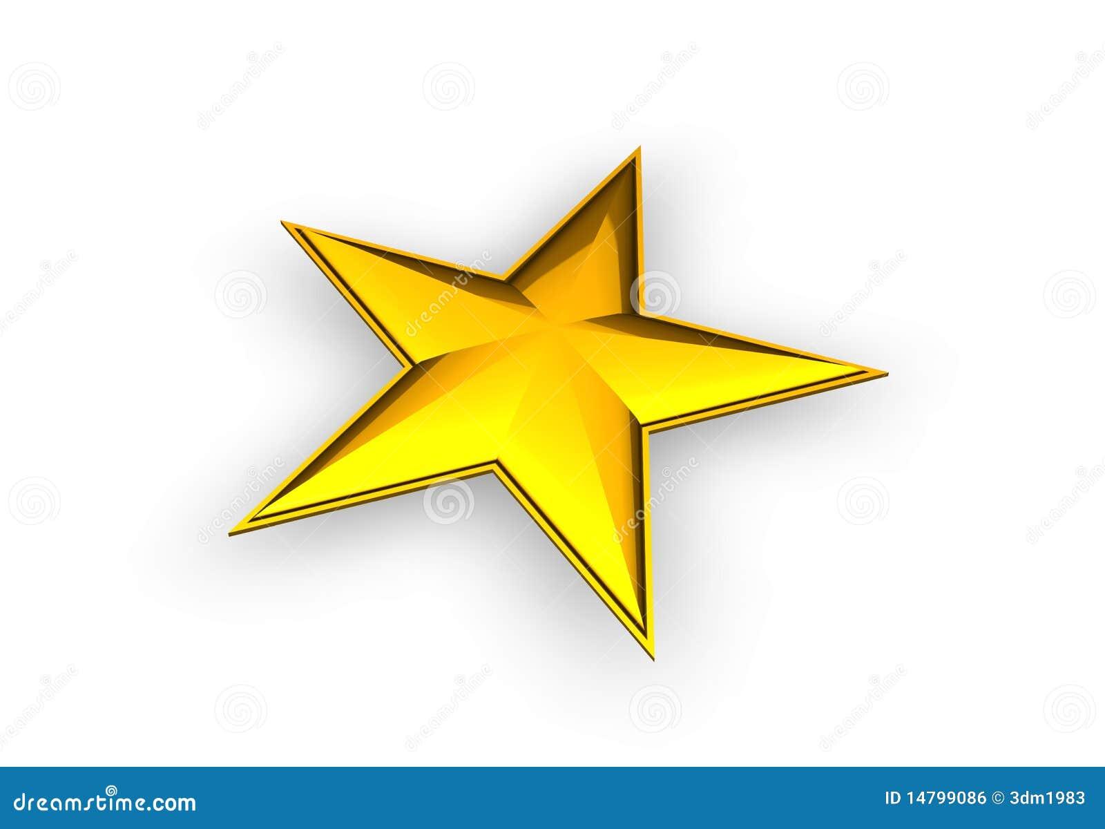 3d złota gwiazda