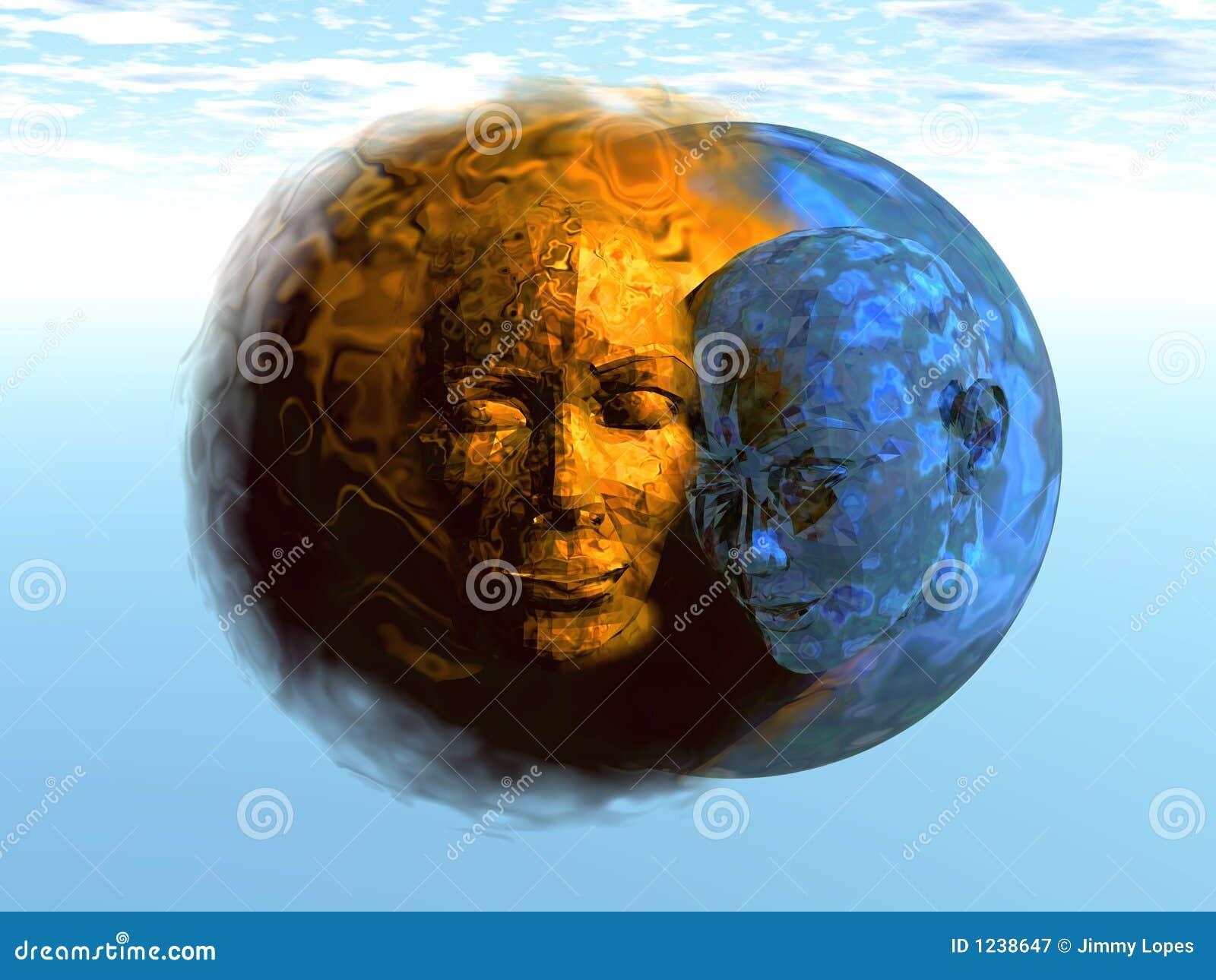 3D Zon en Maan