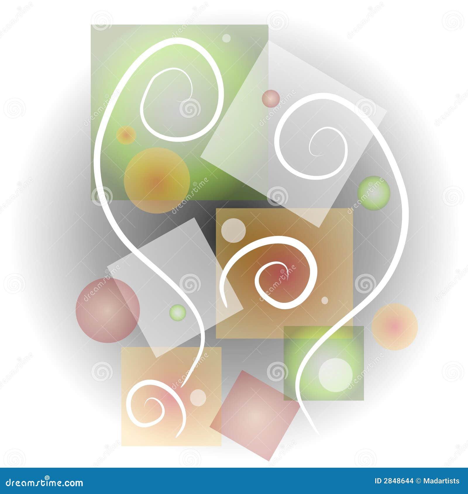 4抽象派拼贴画形状