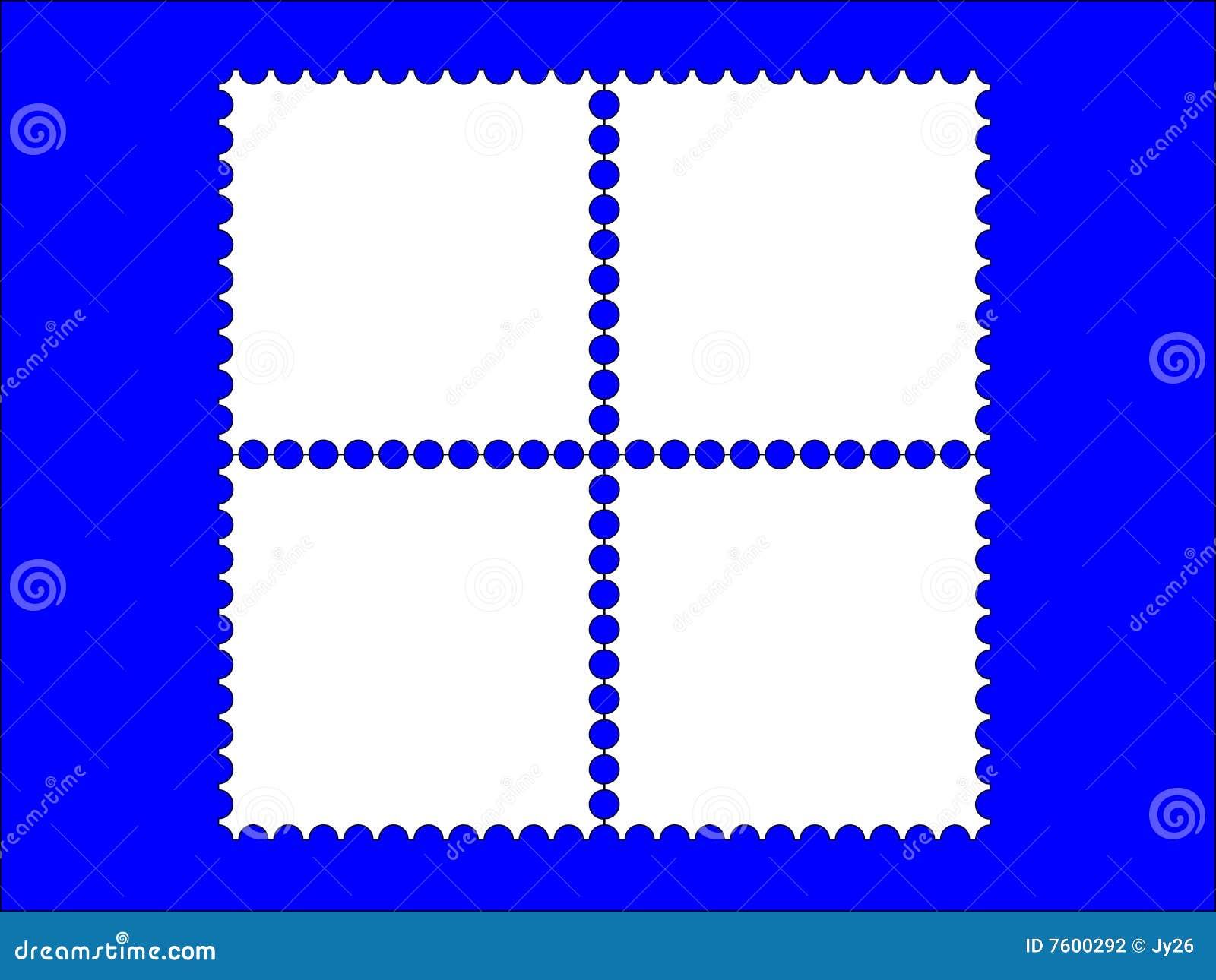 4邮票框架