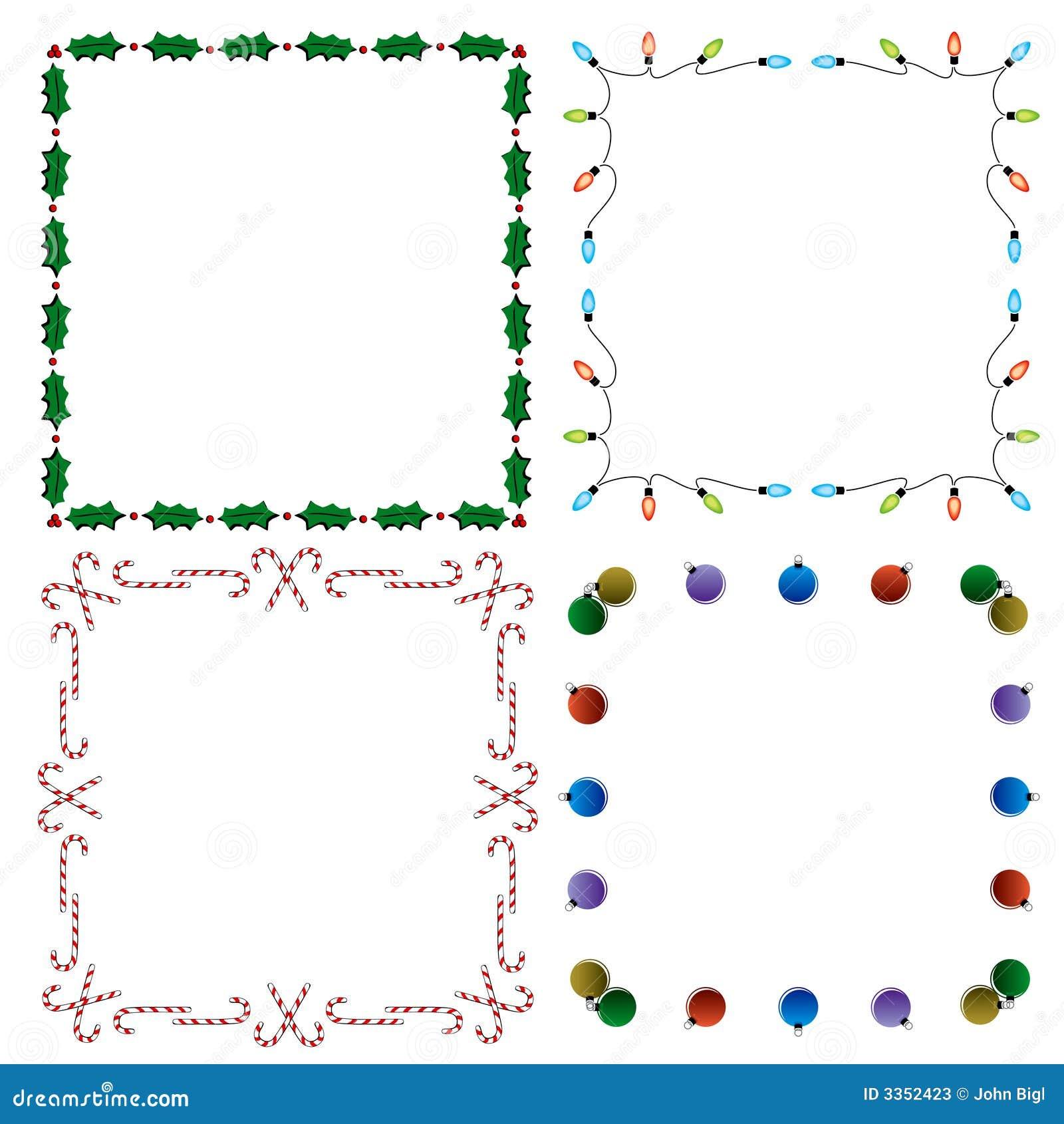 4 beiras decorativas do feriado