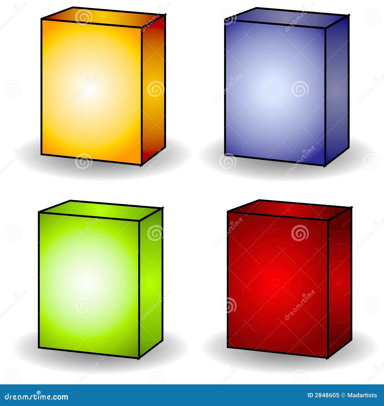 4 blank box covers clip art stock illustration illustration of rh dreamstime com clip art box tops clip art boxing ring