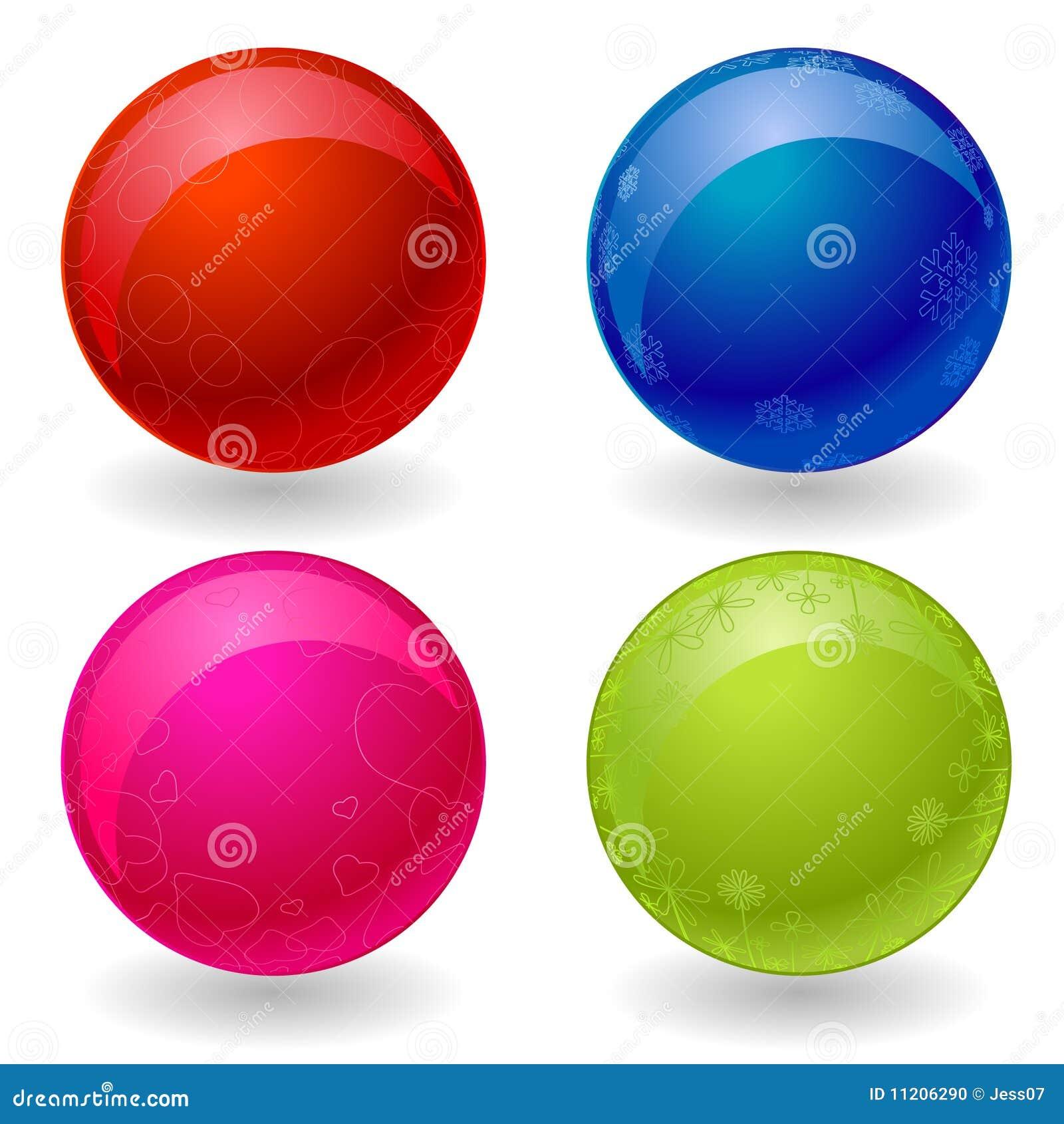 4 bolas del vector 3d del color foto de archivo imagen - Bola de discoteca de colores ...