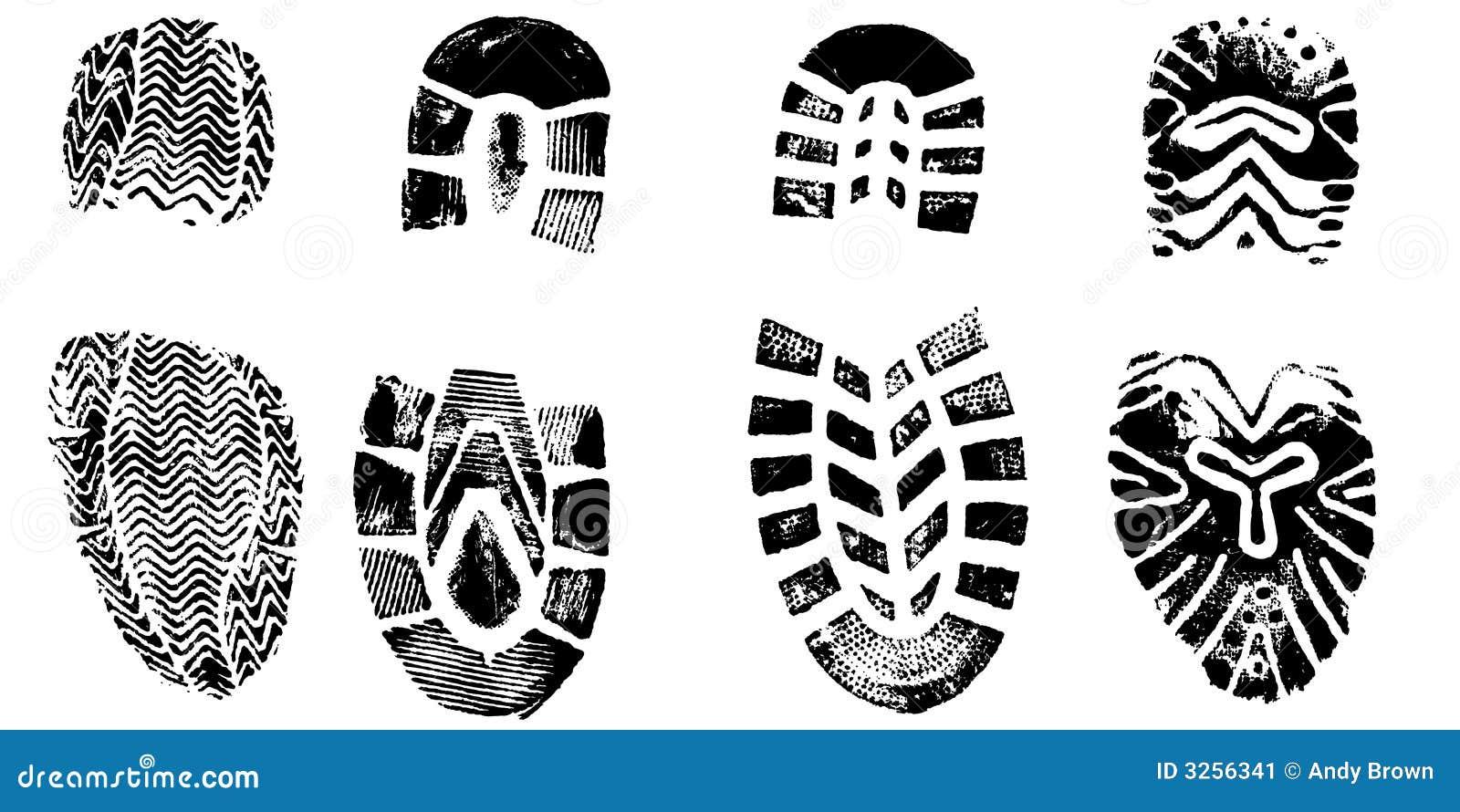 4 Bootprints Stock Vector Image Of Tech Footprint Feet