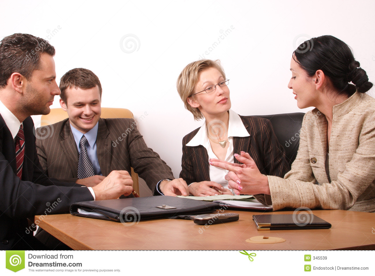 4 business meeting persons