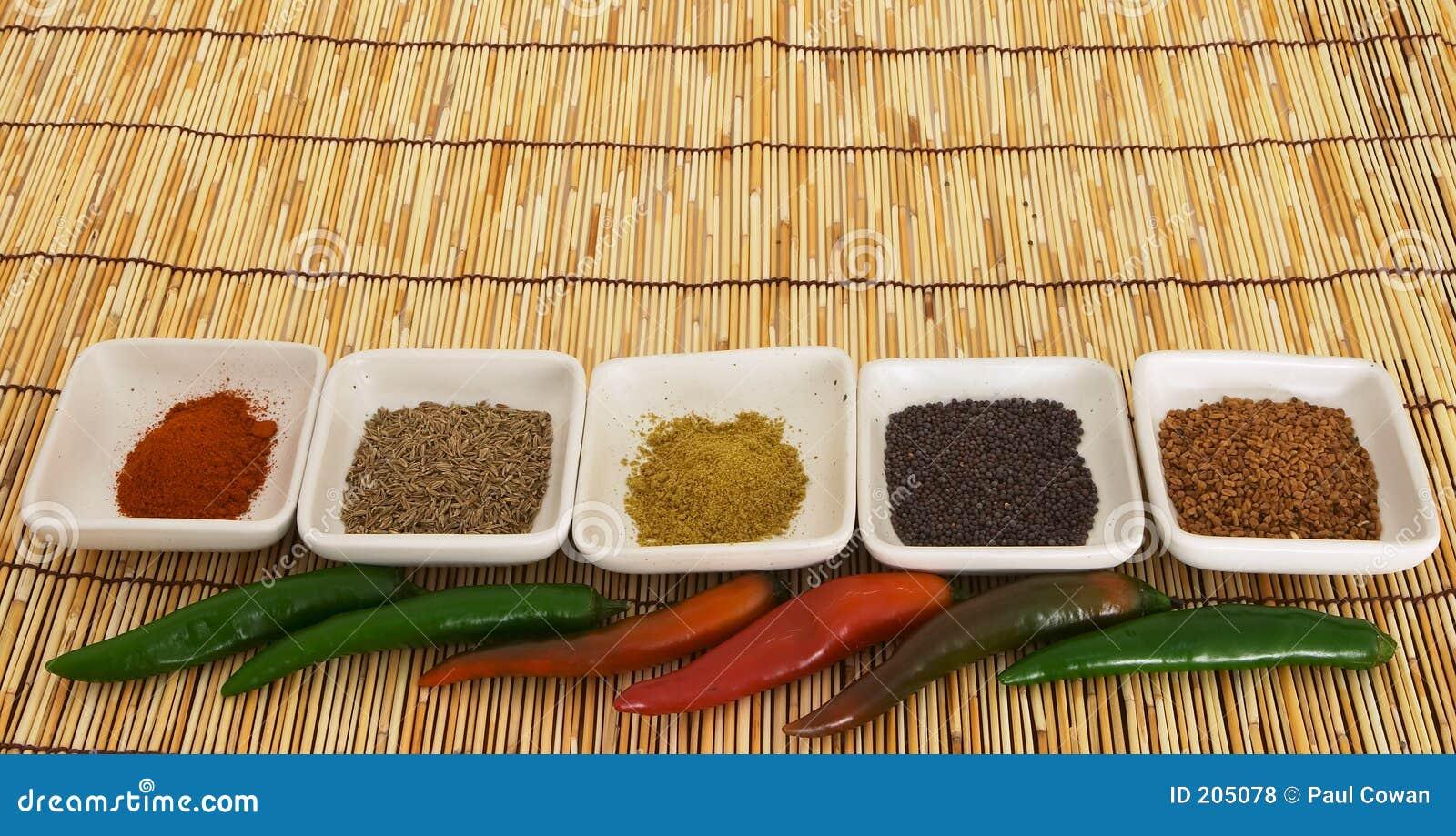 4 currykryddor