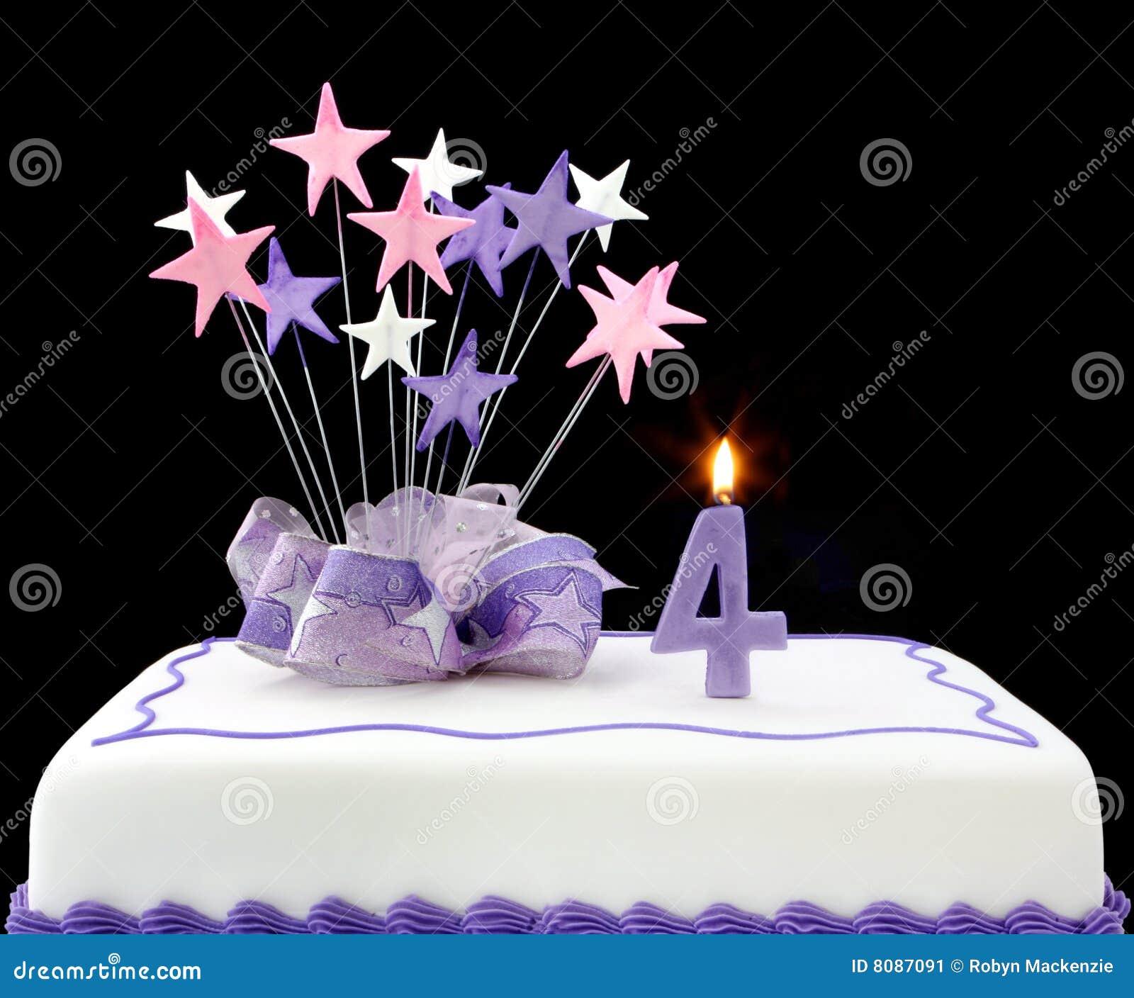 4 Kuchen Stockbild Bild Von Purpurrot Form Zahlen 8087091
