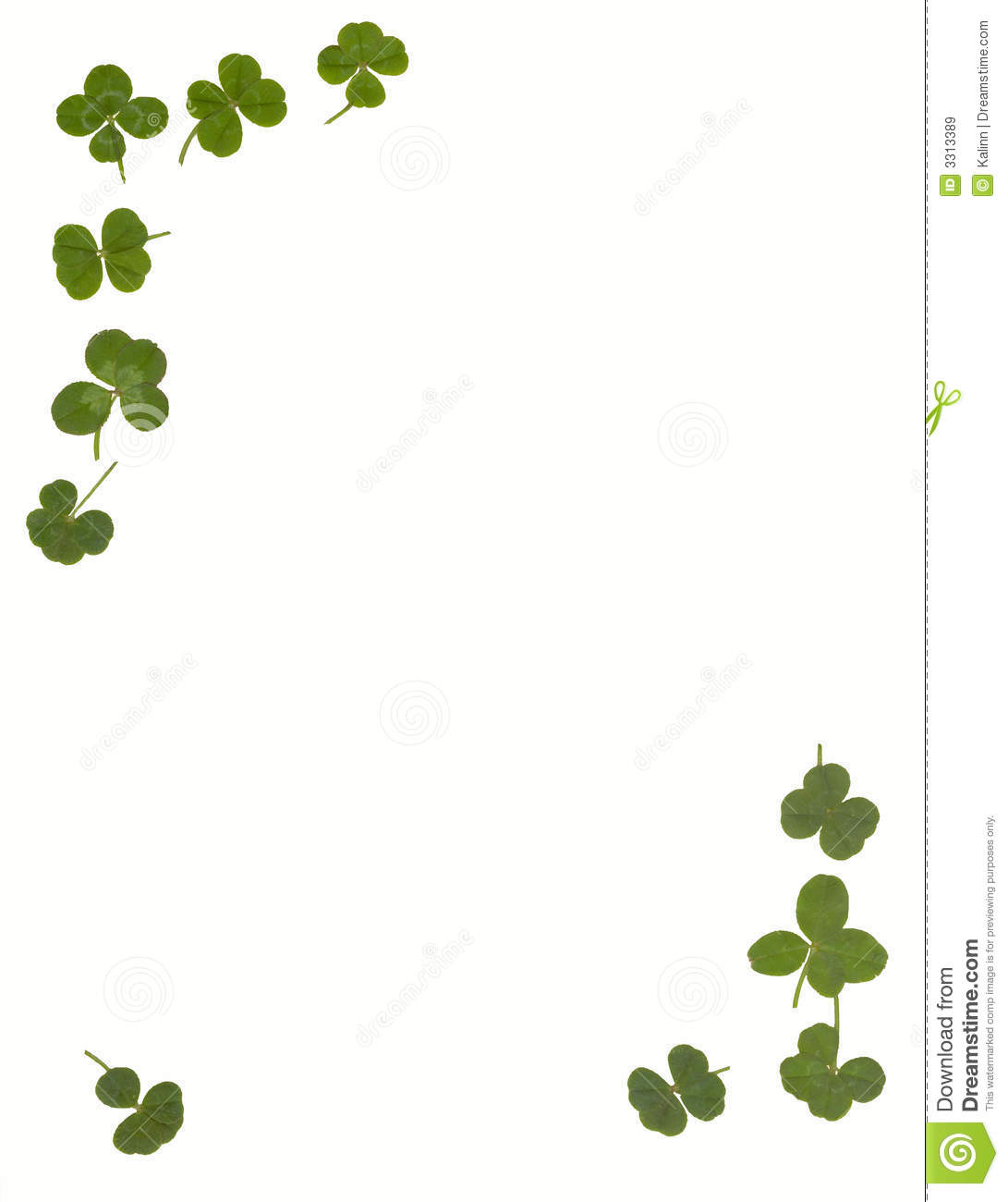 4 Leaf Clover Stationary Royalty Free Stock Images Image