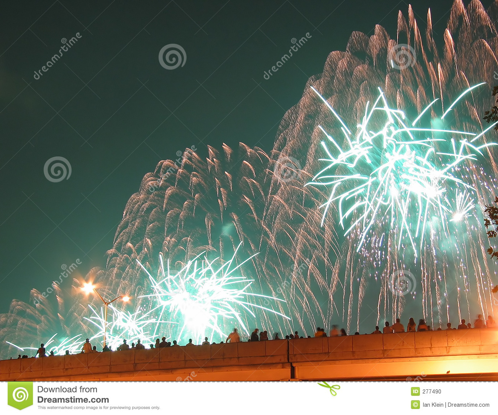 4 Lipca fajerwerki miasta nowy Jork