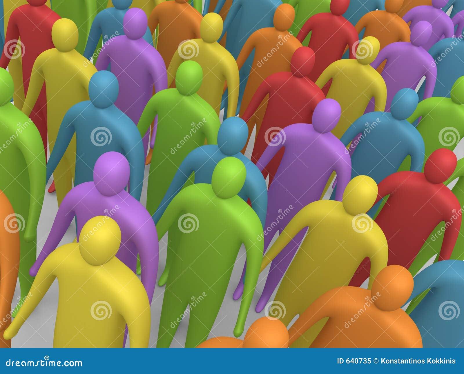 Download 4 multicolor люд иллюстрация штока. иллюстрации насчитывающей толпа - 640735