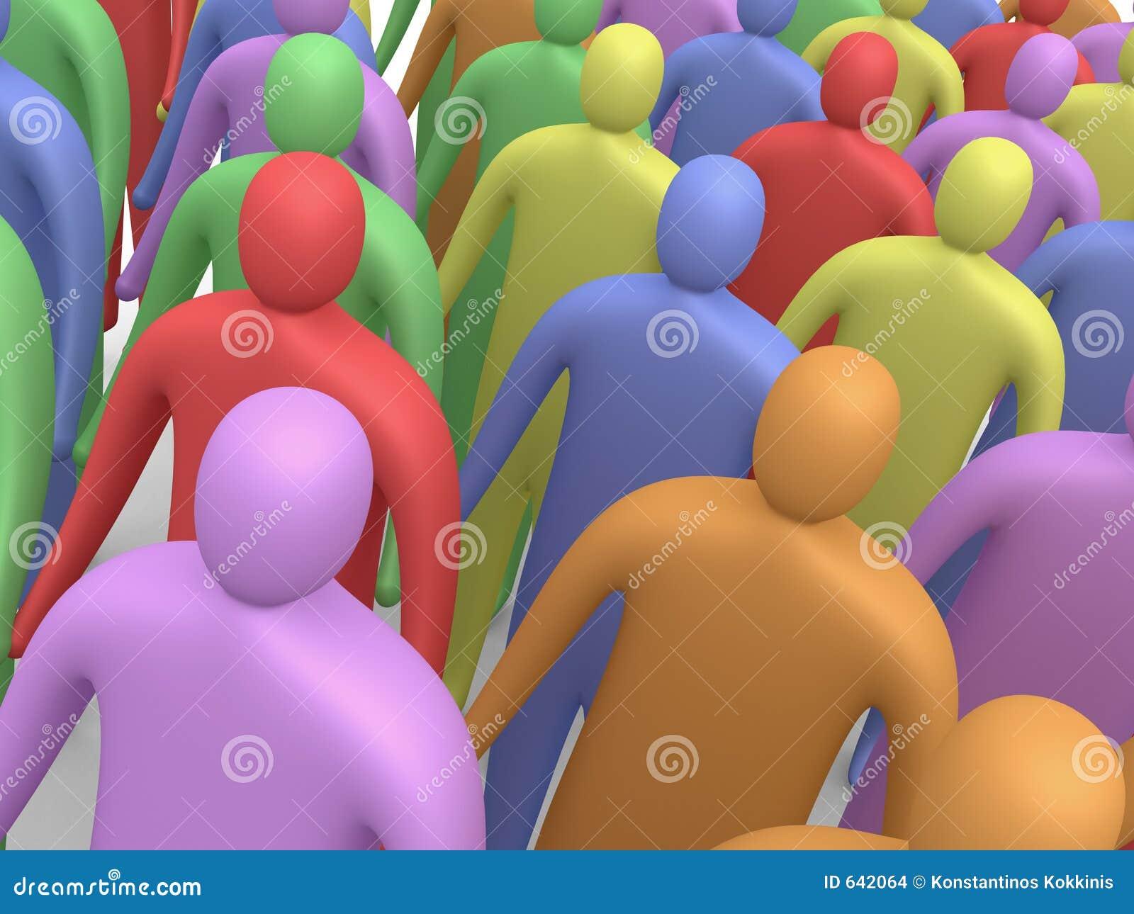 Download 4 multicolor люд иллюстрация штока. иллюстрации насчитывающей толпа - 642064
