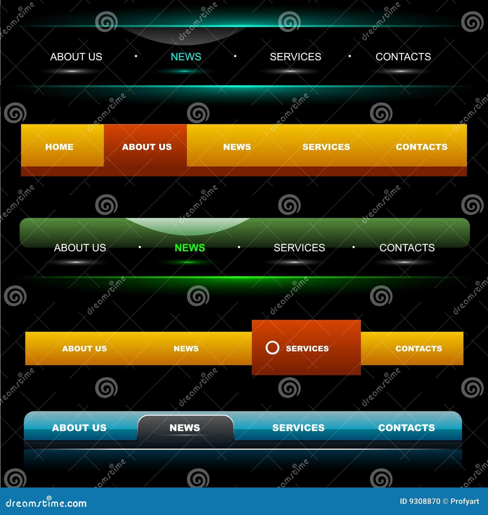 4 nawigaci szablonów strona internetowa