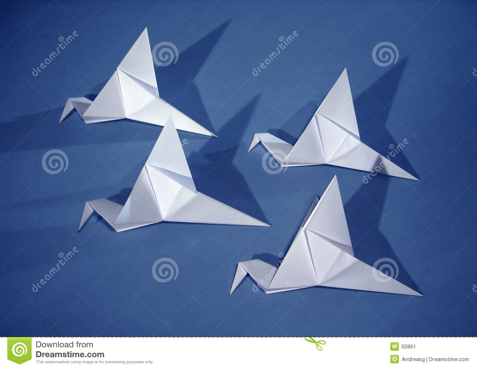 Download 4 oiseaux de papier image stock. Image du course, idée, métier - 50861