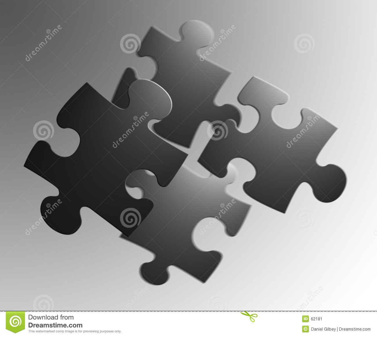 4 pieces of a jigsaw