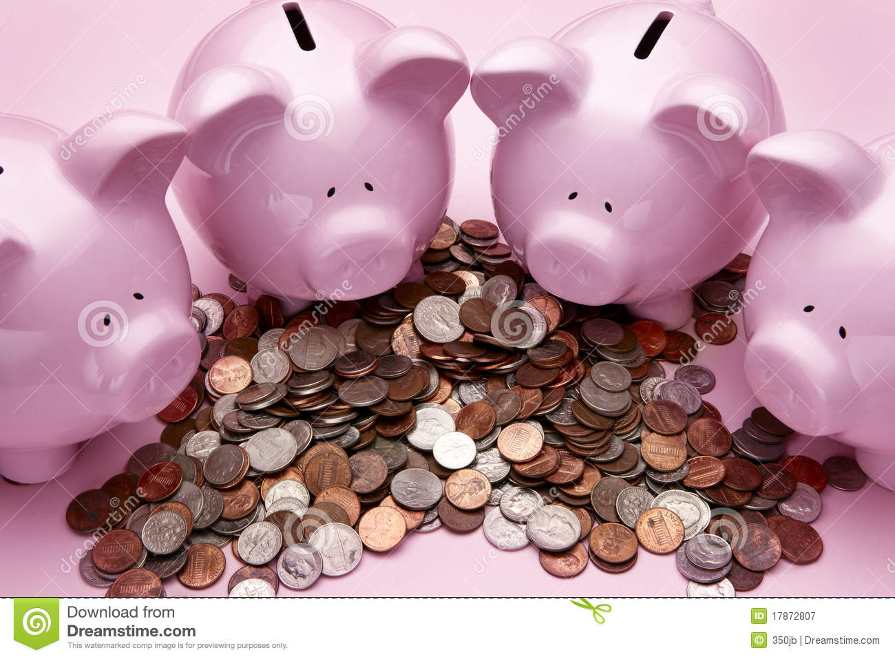 Pink Piggy Banks Royalty Free Stock Photography - Image: 17872807