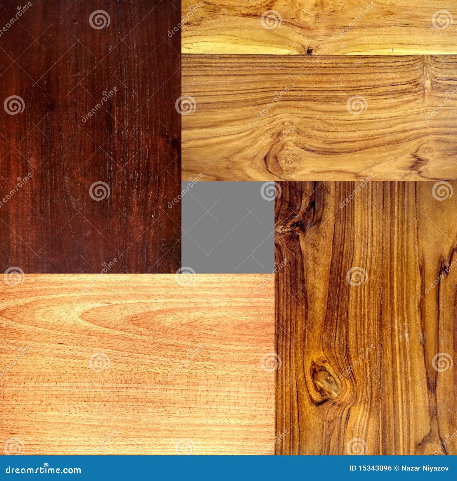 4 type diff rent textures en bois image libre de droits. Black Bedroom Furniture Sets. Home Design Ideas