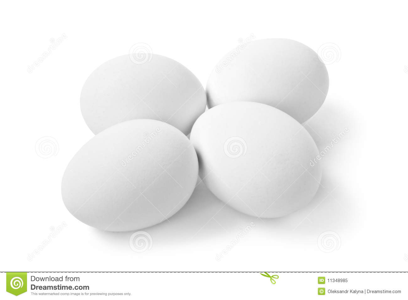 White Eggs Isolated Royalty Free Stock Photo - Image: 11348985