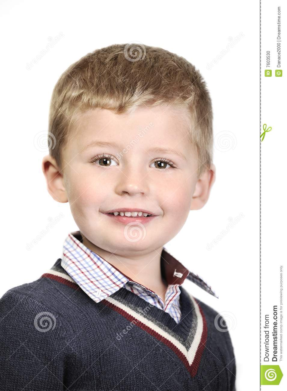 4 Year Boy Bedroom Decorating Ideas: 4 Year Old Boy Portrait. Stock Photo